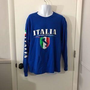 """Mens Italy """"Italia"""" Long Sleeve T-Shirt Size XL"""
